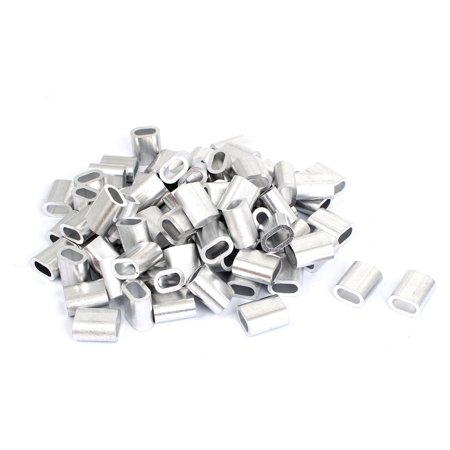 80 Pcs Aluminium Wire Rope Ferrules Crimping sleeves for 6mm Steel Cable - image 1 of 1