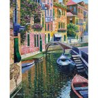 Printfinders Romantic Canal by Howard Behrens Painting Print on Canvas