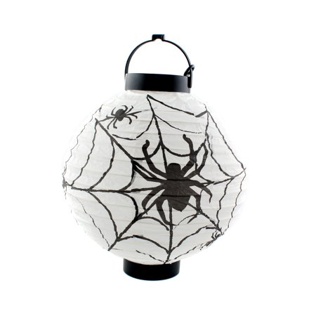 Halloween Spider Hanging Lamp with LED lighting Paper Lantern for Scary Party Decoration, - Hanging Spider