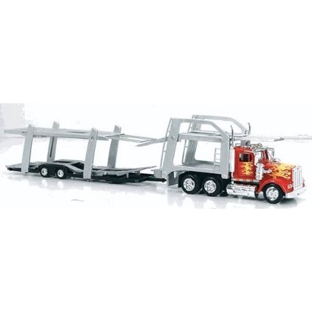 Kenworth Toy Semi Truck Car Carrier Auto Transporter Truck - 1:43 Scale