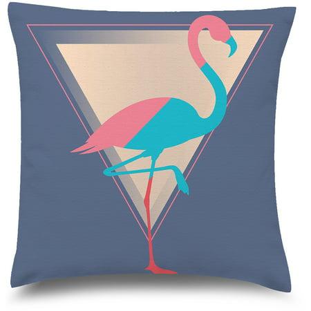 Awkward Styles Flamingo Decorative Pillow Covers Pyramid Throw Cushion Case ()