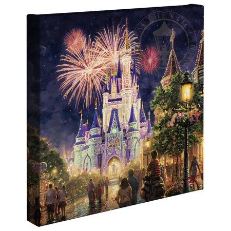 "Thomas Kinkade Main Street, U.S.A.® Walt Disney World® Resort - 14"" x 14"" Gallery Wrapped Canvas"