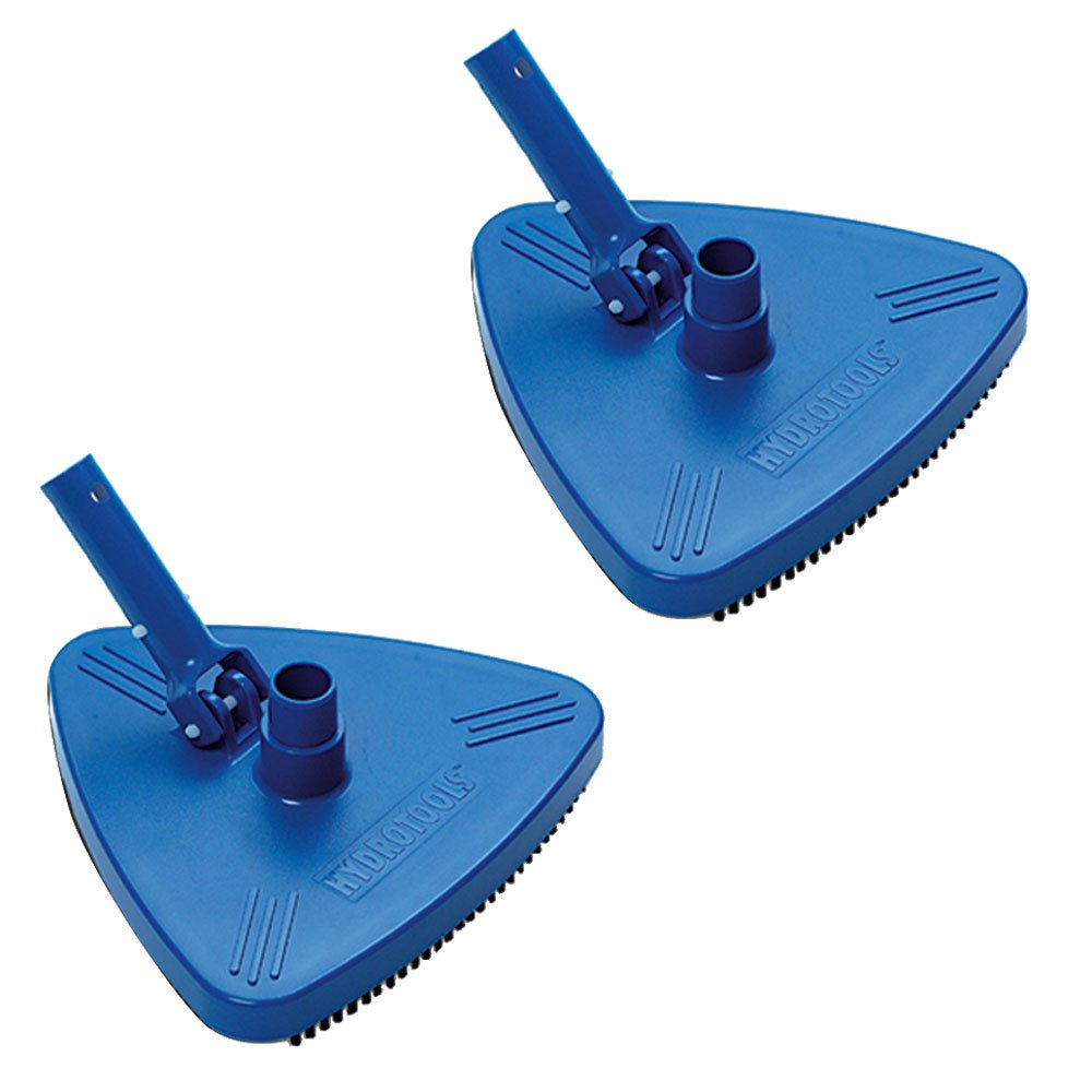 HydroTools 8140 Weighted Triangle Swimming Pool Vacuum Head Attachment (2 Pack)