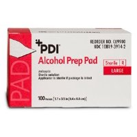 Pad, Alcohol Prep Str Lg  (Units Per Case: 1000)