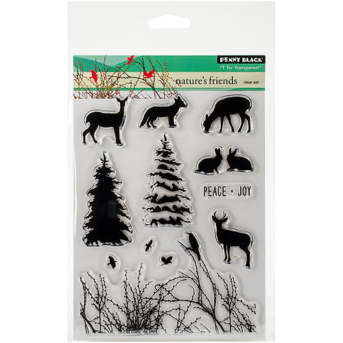 """Penny Black Clear Stamps, 5"""" x 7.5"""" Sheet, Nature's Friends"""