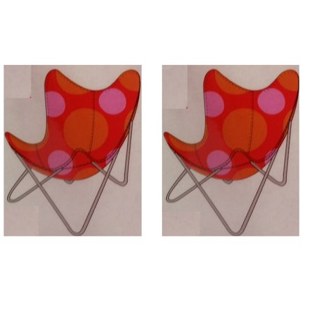 Replacement 2-Pack Cover for Butterfly Chairs, Retro Red Nylon