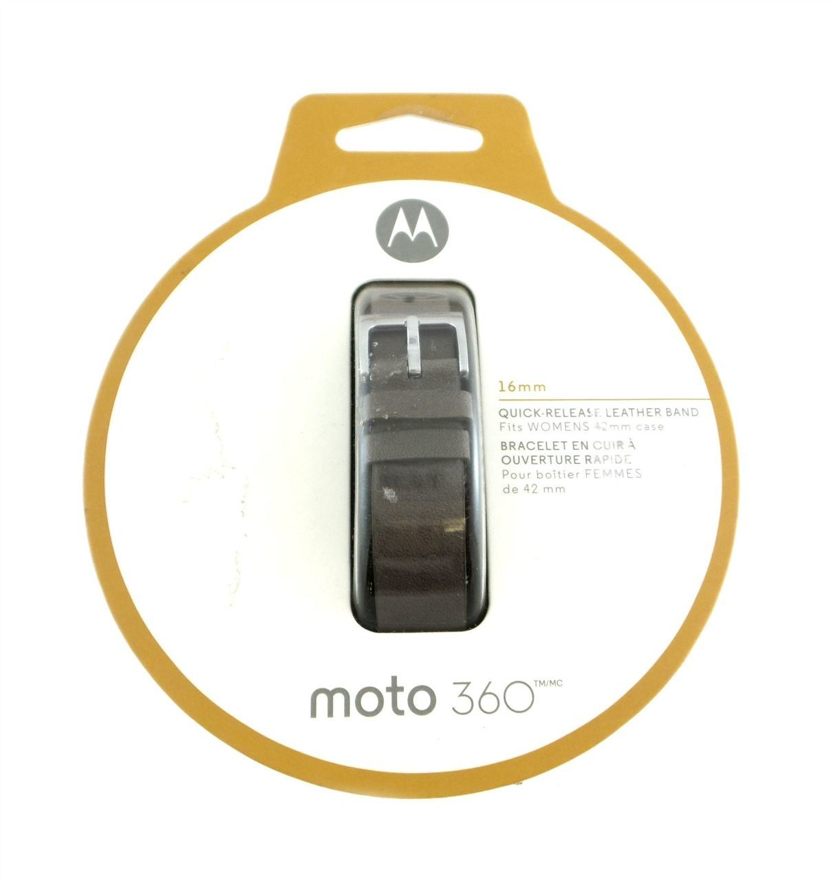 Motorola Moto 360 16mm Leather Band Women's Smartwatches Gray 89852N