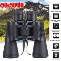 50x50HD/40x60mm/BAK4 Prisms Offe/Night Military Army Zoom Powerful Folding Binoculars Optics Hunting Camping with Storage Bag  Cleaning cloth (Black)