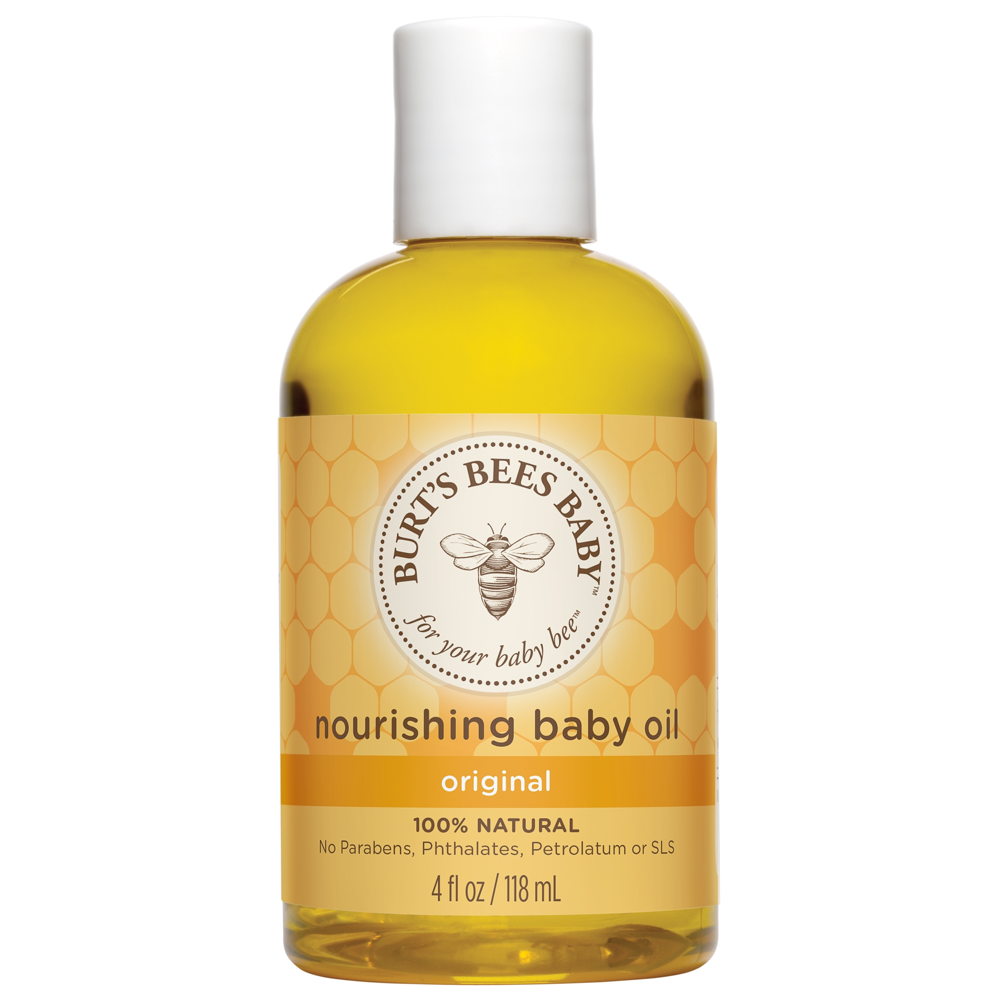 Burt's Bees Baby Nourishing Baby Oil, 100% Natural Baby Skin Care - 4 oz Bottle