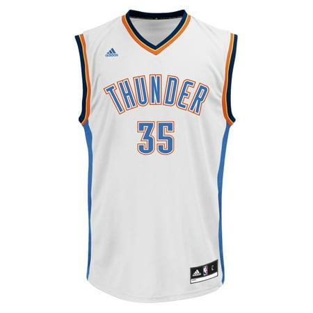 buy popular 94142 27cfe Kevin Durant Oklahoma City Thunder Adidas NBA White Replica ...