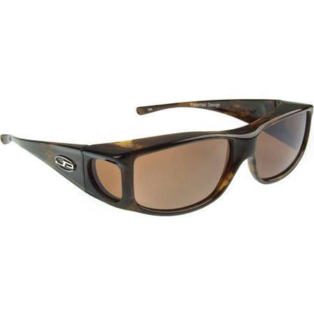 Fitovers Eyewear - Jett Collection - Brown Marble/polarized (Fitovers Eyewear)