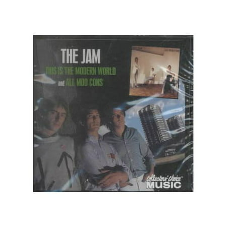 2 LPs on 1 CD: THIS IS THE MODERN WORLD (1977)/ALL MOD CONS (1978).The Jam: Paul Weller (vocals, guitar); Bruce Foxton (vocals, bass); Rick Buckler (drums).The pairing of the two Jam albums on this reissue is a significant one, as it represents a pivotal era in both the group's career and bandleader Paul Weller's life. THIS IS THE MODERN WORLD, the group's 1977 sophomore effort, was much in the same vein as the Jam's classic debut, IN THE CITY--essentially a heady mix of brash, semi-political punk rock and '60s-inspired pop. After the release of the record and a largely unsuccessful American tour, Weller suffered a nervous breakdown.Luckily, the ensuing time off allowed Weller to write the songs that would appear on 1978's ALL MOD CONS, the album that made the Jam superstars in Britain. A fully realized, towering artistic achievement, the record showcases a more mature but no less potent writing style that is bolstered by superb musicianship from the trio. Frenetic, apocalyptic rock (