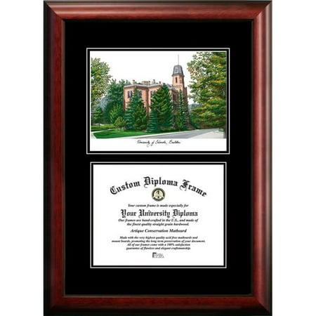 Campus Images CO995D-108 8 x 10 in. University of Colorado, Boulder Diplomate Diploma Satin Mahogany Frame