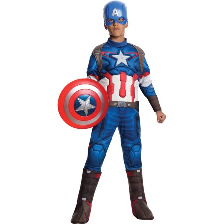 Captain America Deluxe Child Halloween Costume