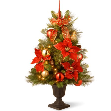 3 ft. Decorative Collection Home For the Holidays Entrance Tree with Clear Lights