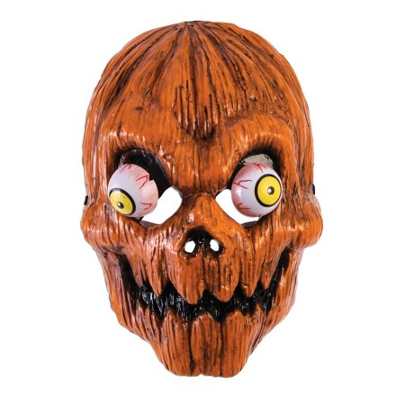 Google Eye Pumpkin Mask Halloween Costume Accessory (Pumpkin Head Halloween Dance)