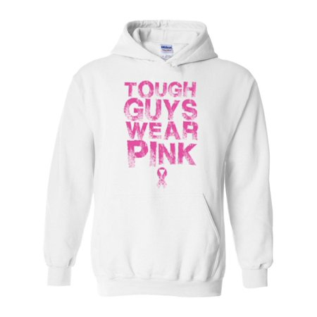Tough Guys Wear Pink Breast Cancer Awareness Unisex Hoodie Hooded - Awareness Hooded Sweatshirt
