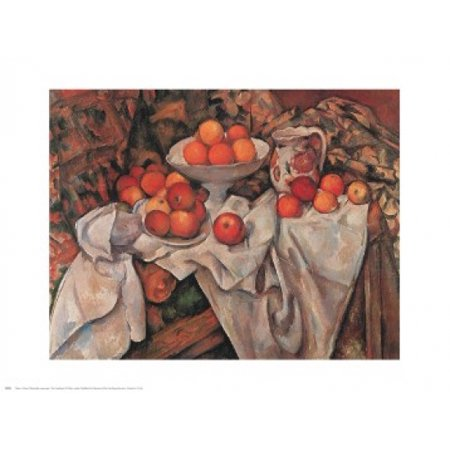 - Apples and Oranges Poster Print by Paul Cezanne (30 x 24)