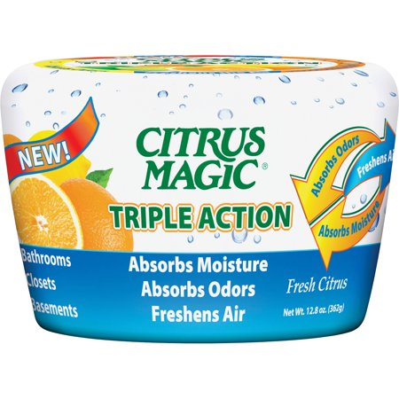 Citrus Magic, BMT618372454, Triple Action Air Freshener, 1 Each, White/Red
