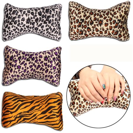 Nail Hand Arm Wrist Holder Cushion Bone Shape Leopard Printed Manicure Hand Rest Pillow Salon Beauty Tool Random Color - image 2 of 9