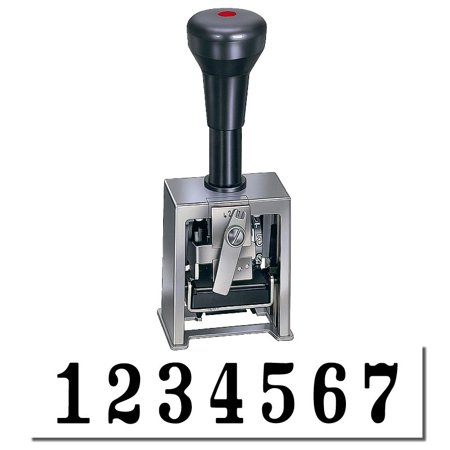 Numbering Machine 7 Wheels - 7 Wheel Numbering Stamp Machine Model 18-7 (Black Ink)