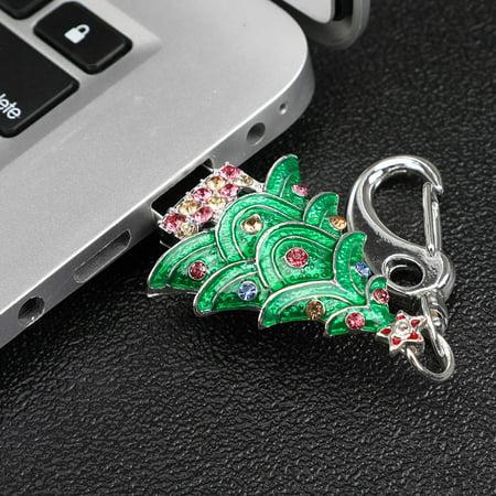 Christmas Tree 4GB USB Flash Drives Memory Stick Storage Key Pen U Disk (Christmas Flash Drive)