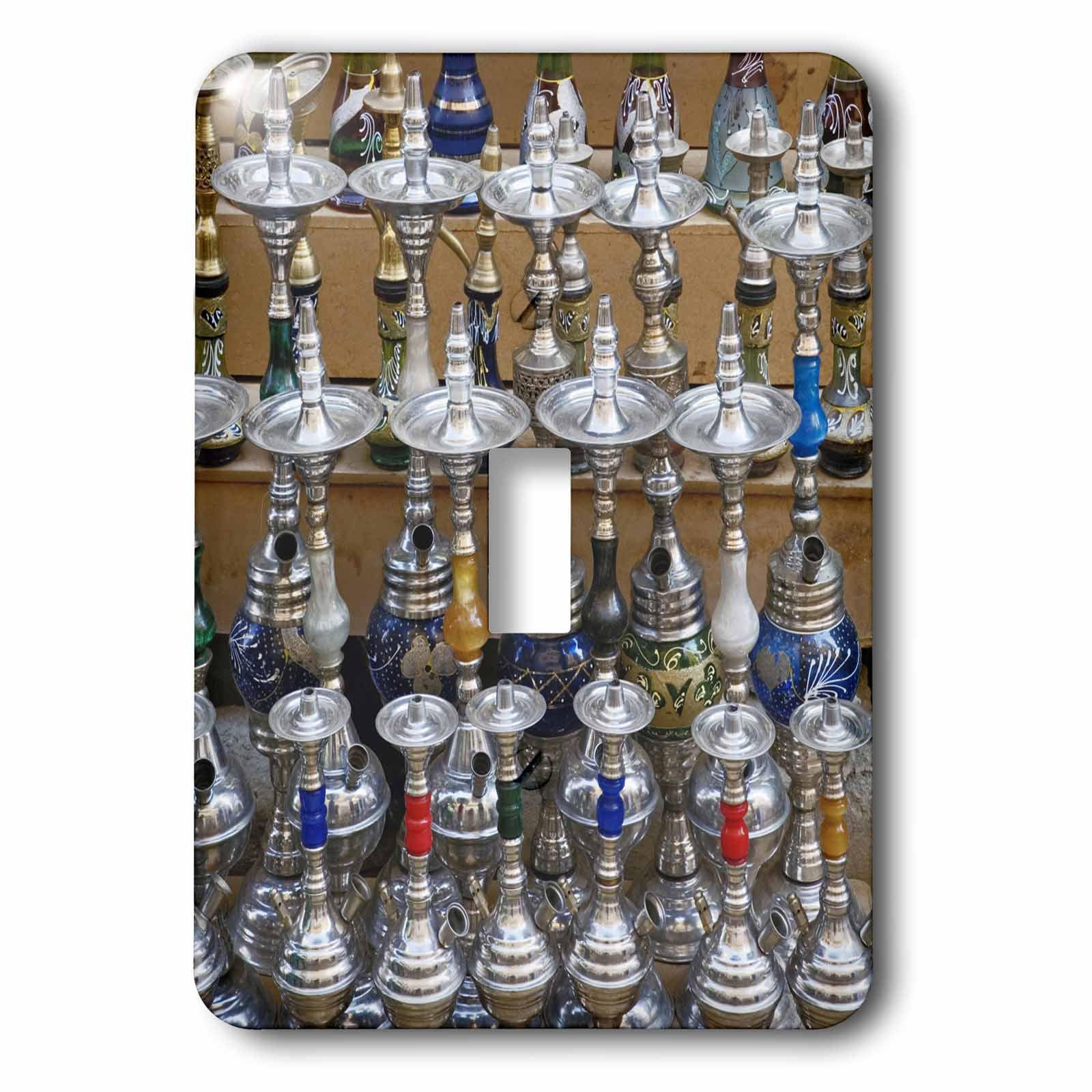 3dRose Market, Hookah pipes in sidewalk shop, Luxor, Egypt-AF14 AJE0223 - Adam Jones, 2 Plug Outlet Cover
