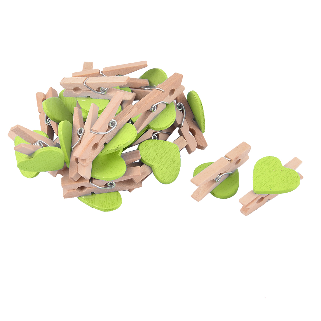 20pcs Assorted Wooden Pegs Wedding Table Place Card Photo Holders Clips Craft