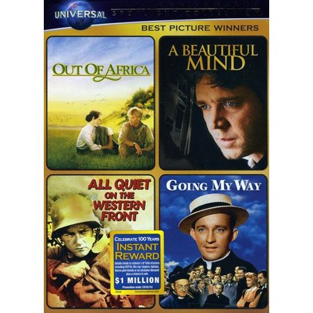 Best Picture Winners  Out Of Africa   A Beautiful Mind   All Quiet On The Western Front   Going My Way