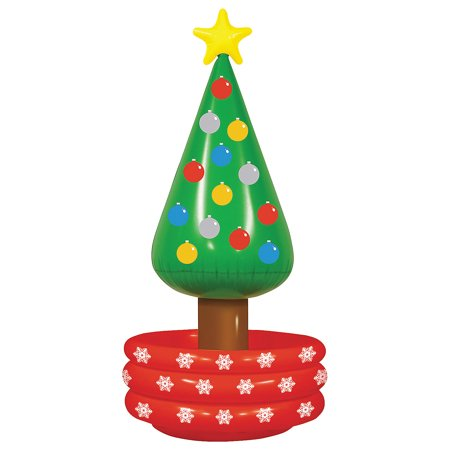 Fun Express - Inflatable Christmas Tree Cool for Christmas - Toys - Inflates - Inflatable Coolers - Christmas - 1 Piece