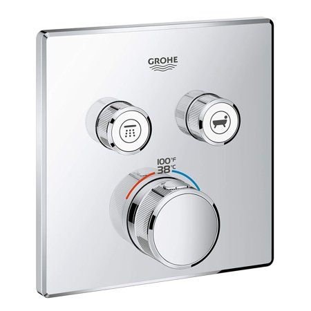 Grohe  Grohtherm SmartControl Dual Function Thermostatic Trim with Control Module StarLight Chrome