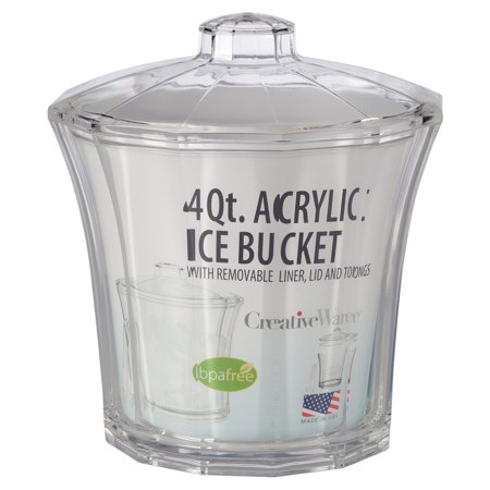 Creative Ware Insulated Acrylic Ice Bucket and - Clear Bucket