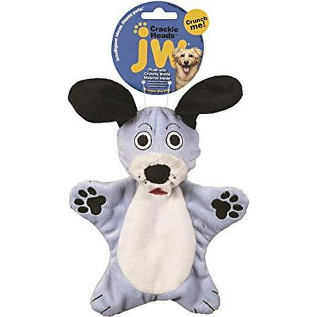 Company Crackle Heads Dougie Dog Toy  Medium  Patent Pending Cracklin Bottle Ball Inside Each Plush Head By Jw Pet