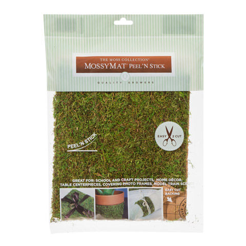 The Moss Collection Mossy Mat Peel and Stick Moss Sheet - 16 x 18 inches