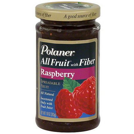 Polaner All Fruit Raspberry Spreadable Fruit With Fiber, 10 oz (Pack of
