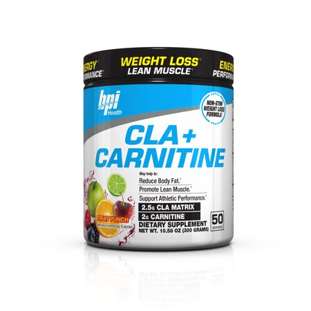 - BPI Health CLA + Carnitine Fat Burner Fruit Punch, 50 Servings
