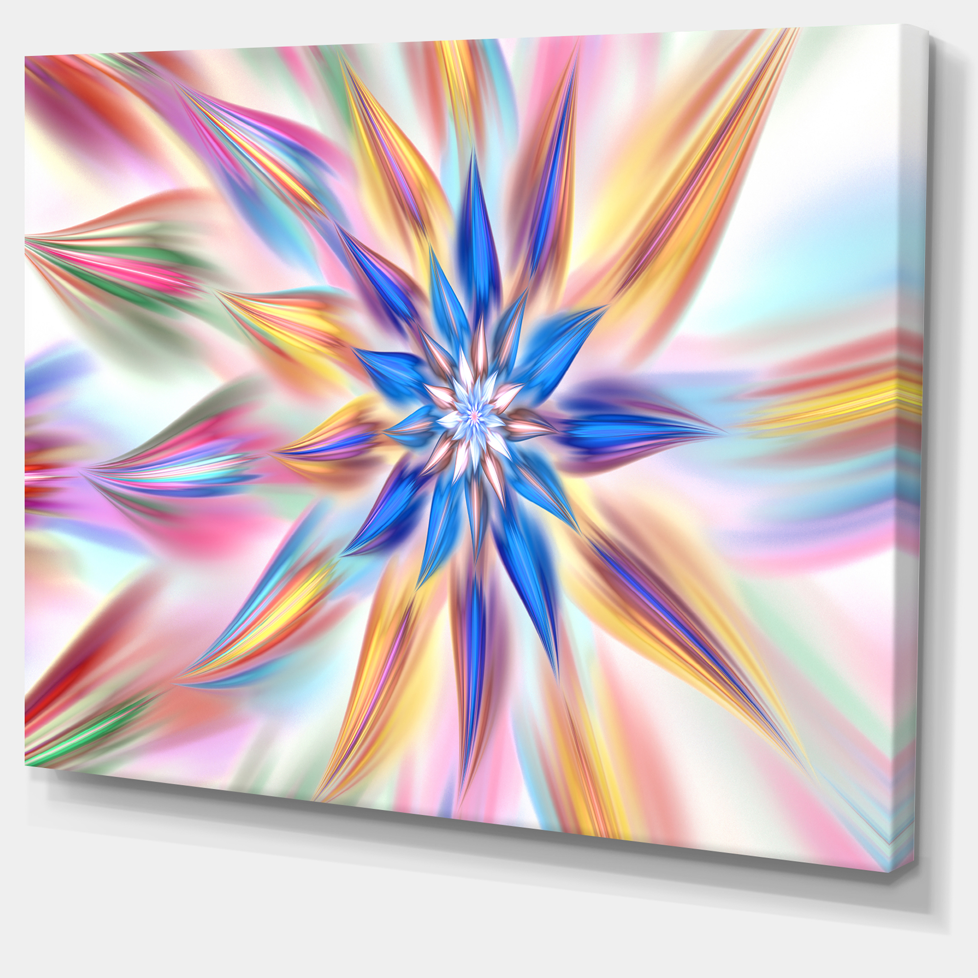 Exotic Dance of Multi Color Petals - Floral Canvas Art Print - image 2 of 4