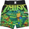 TNT Ninja Turtles Baby Boys Black Green Cartoon Character Swimwear Shorts 24M