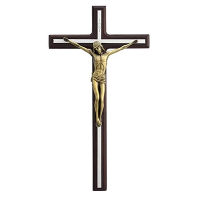Unicorn Studios AT09044AB Crucifix Wall Plaque Cross & Jesus on Wood, Bronze - image 1 of 1