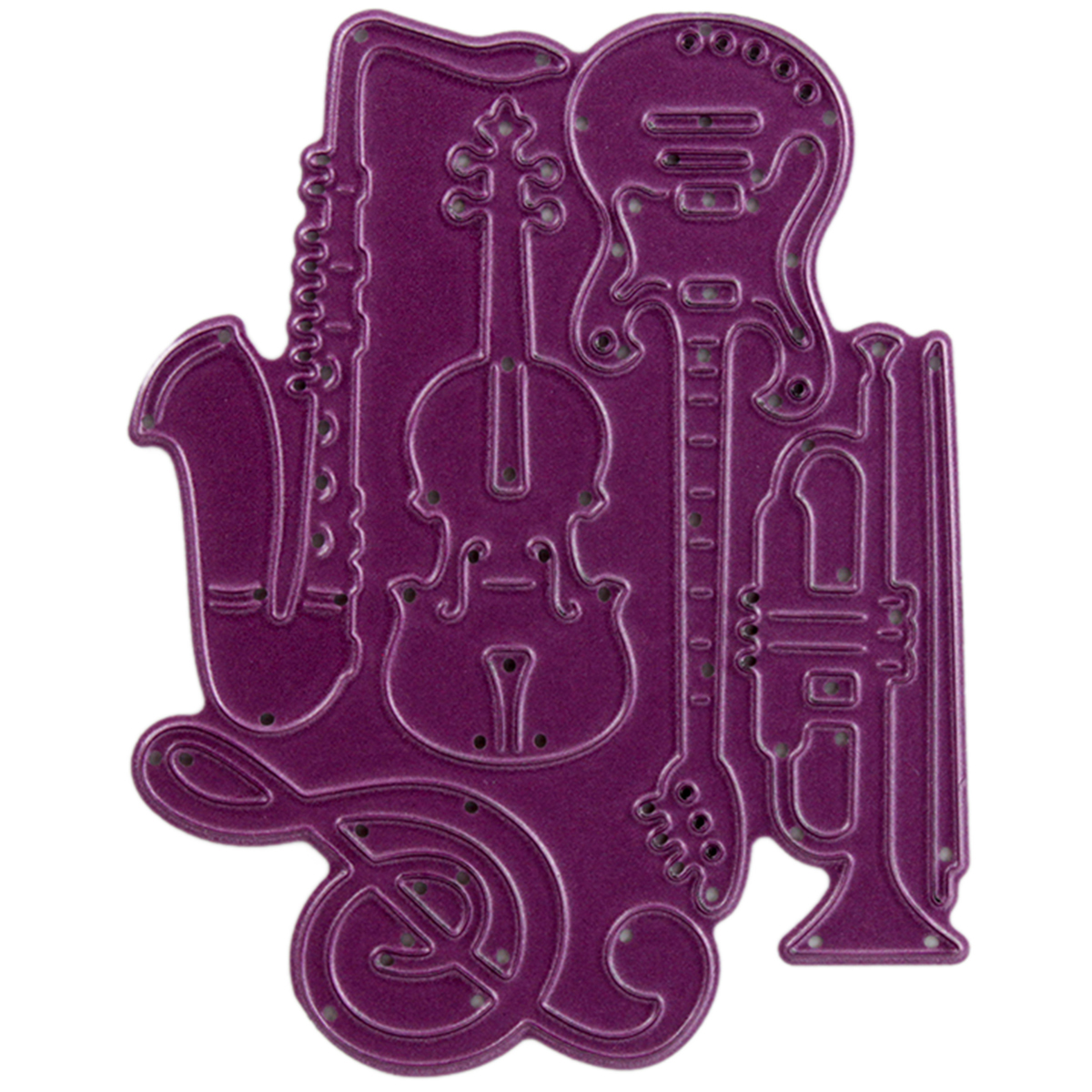 "Cheery Lynn Designs Die, Musical Instruments, .625"" to 3"""