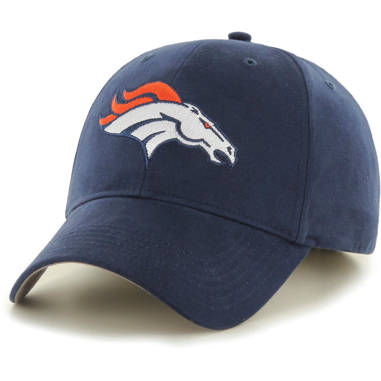 Men's Fan Favorite Navy Denver Broncos Mass Basic Adjustable Hat - OSFA