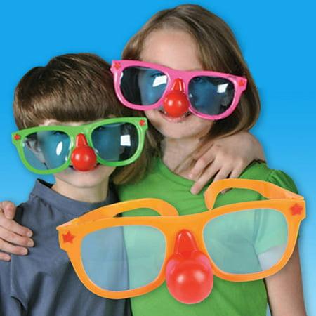 Jumbo Plastic Sunglasses w Clown Nose for $<!---->