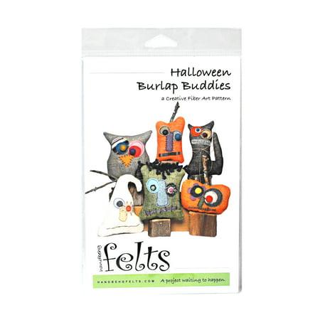 Handbeng Felts Halloween Burlap Buddies Creative Fiber Art Pattern](Felt Halloween Bag Pattern)