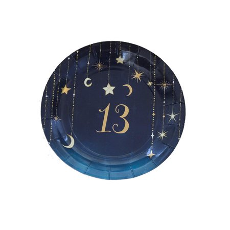 13Th Birthday Starry Night Themed Girls Party 7 Inch Round Plates 8 Pack (Girl Birthday Themes Ideas)