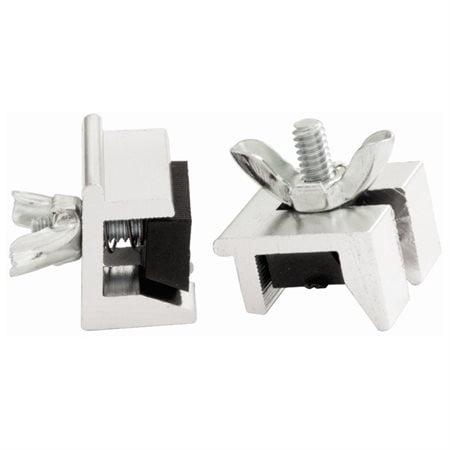 Window Slide Stop  2 Pack in Aluminum (Set of 10) ()
