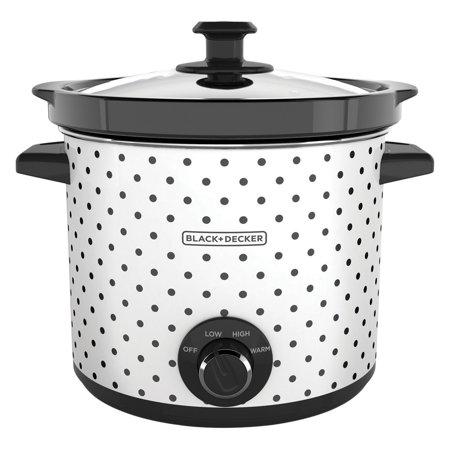 BLACK+DECKER SC1004D 4 Quart Dial Control Slow Cooker with Built in
