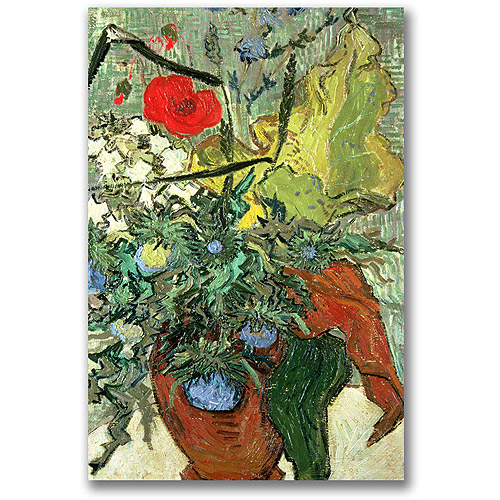"Trademark Fine Art ""Bouquet Of Wild Flowers"" Canvas Wall Art by Vincent van Gogh"