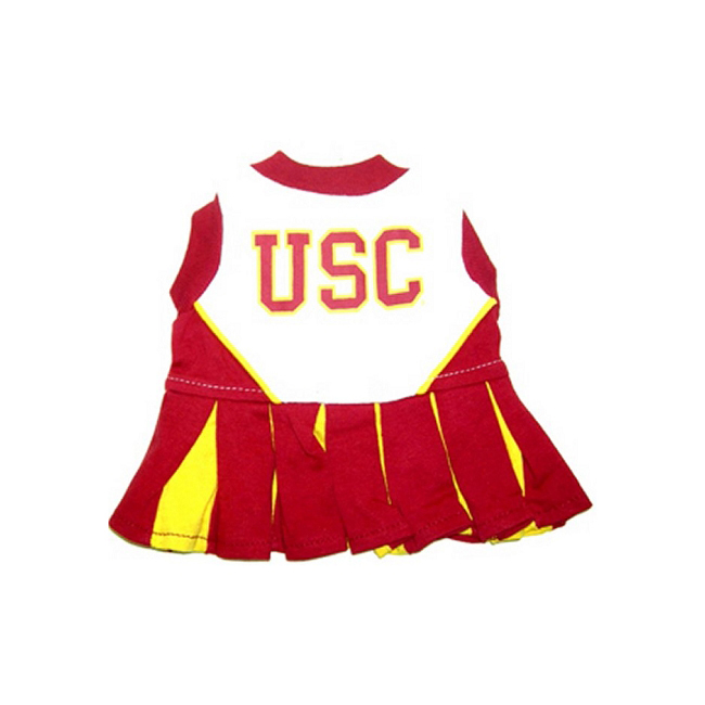 Pets First USC Trojans Team Pet Dog Cheer Leading Sports Outfit Small
