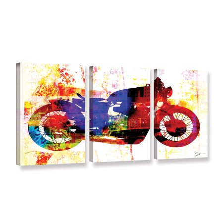 Moto Iii Gallery Wrapped Canvas Art Print