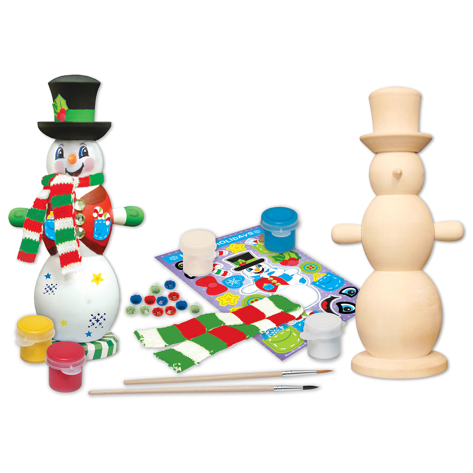 MasterPieces Works of Ahhh…Snowman Holiday Wood Paint Kit